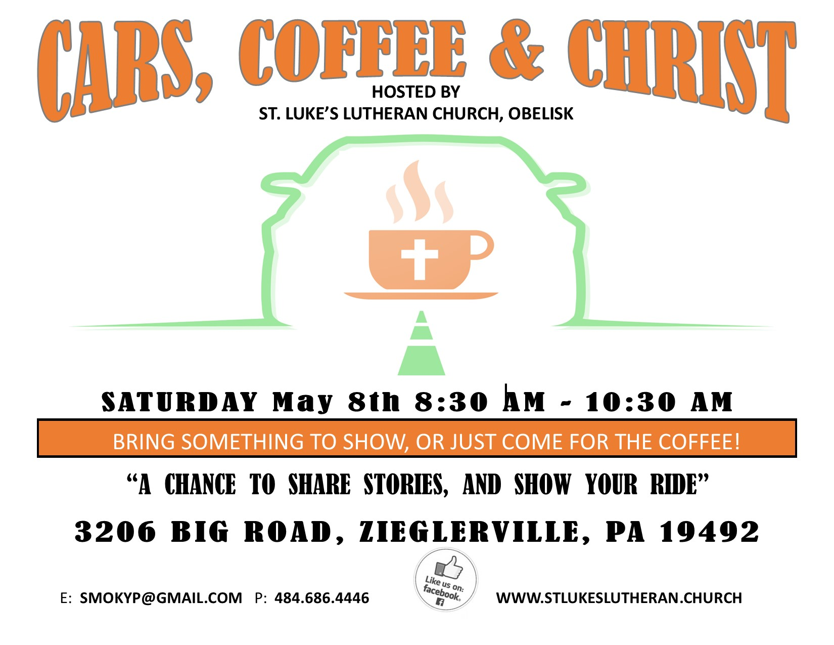 Cars Coffee & Christ Flyer 2021