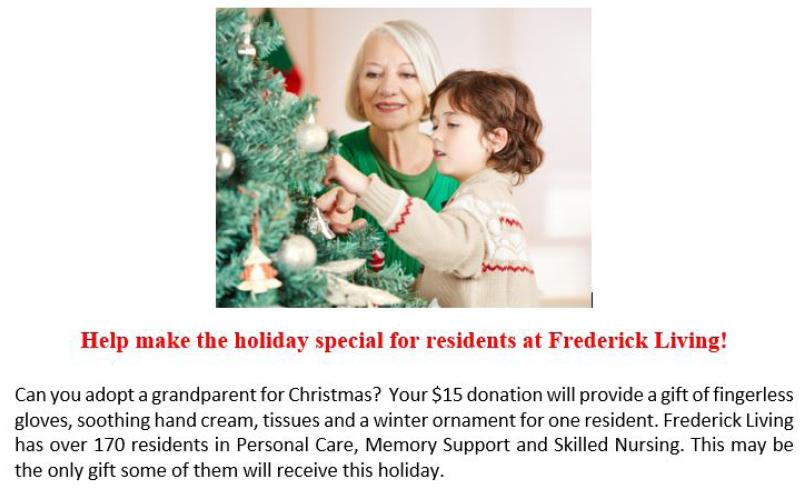 frederick living adopt a grand parent