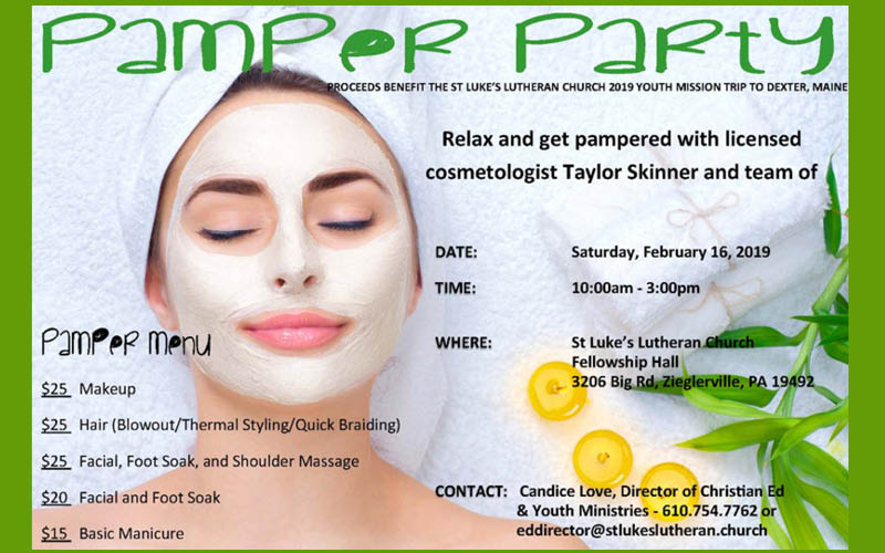 pamper party 2019